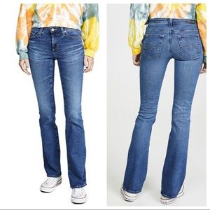 AG The Angel Mid Rise Boot Cut Jeans Stretch